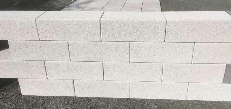 Vios Mauer grau feingestrahlt 67,5×22,5 x 16,5 und 45×22,5×16,5 cm (2.Wahl)
