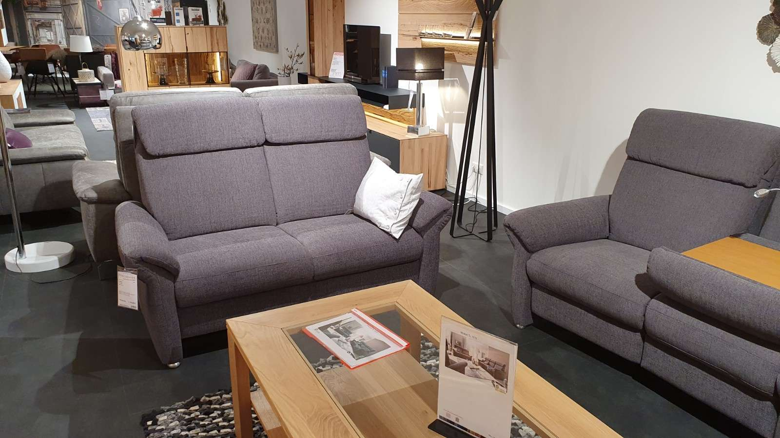 2-Sitzer Sofa mit Sessel