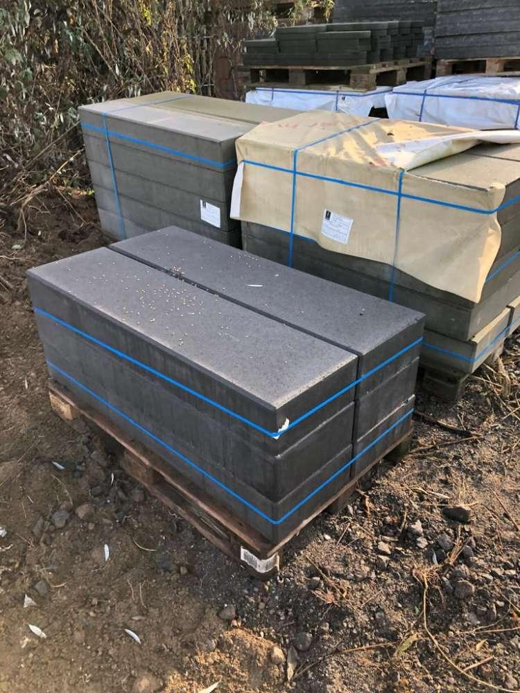 JASTO Blockstufen 125x35x15 cm Anthrazit (2.Wahl)