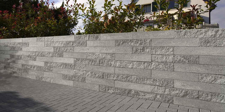 Adina Gartenmauer titangrau 67,5×22,5×10 cm und 33,75×22,5×10 cm (2.Wahl)