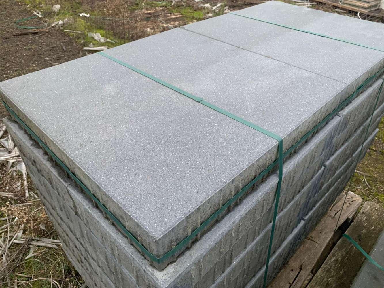 Vanity Pflaster 60x60x8 cm dunkelgrau satiniert (Restposten/2.Wahl)