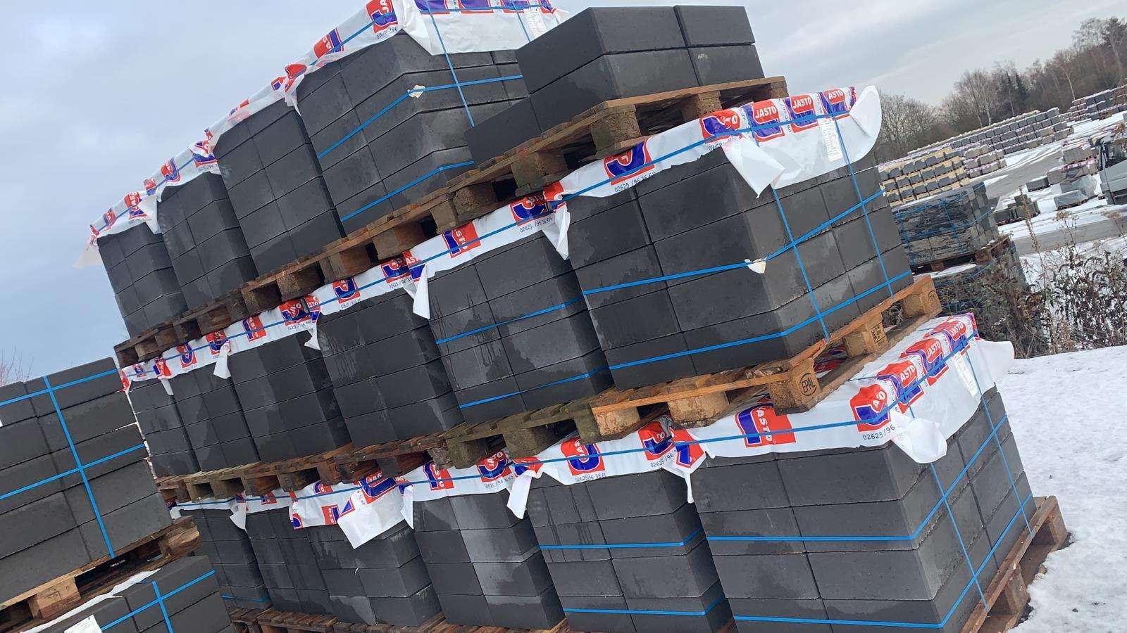 JASTO Blockstufen 50x35x15 cm Anthrazit (2.Wahl)