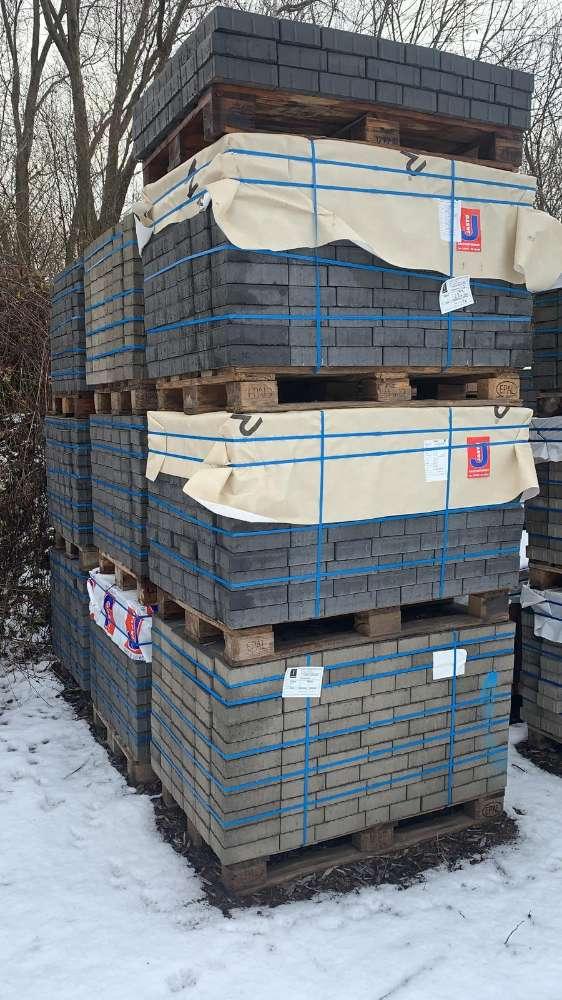 Via Privado Pflaster 6 cm Läuferverband anthrazit (2.Wahl)