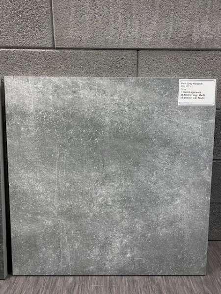 Keramik Irish Grey 60x60x2 cm grau-blau Keramische Fliese