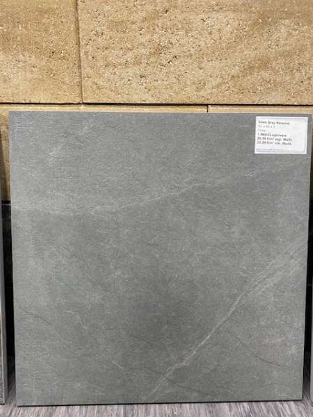 Keramik Slate Grey 60x60x2 cm grau Keramische Fliese