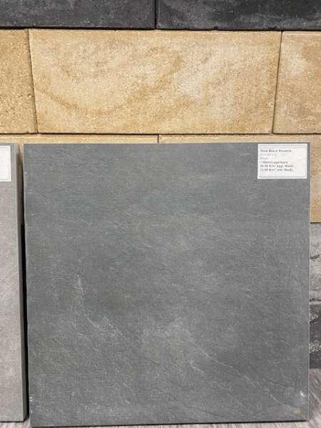 Keramik Slate Black 60x60x2 cm anthrazit Keramische Fliese
