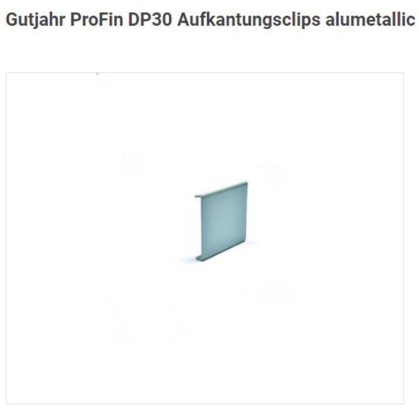 ProFin DP30 AC alumetallic Aufkantungsclips