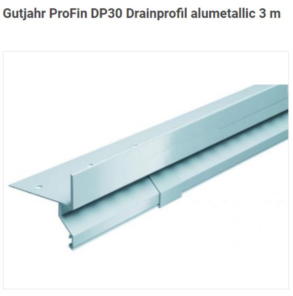 ProFin DP30 alumetallic 3 m Drainprofil