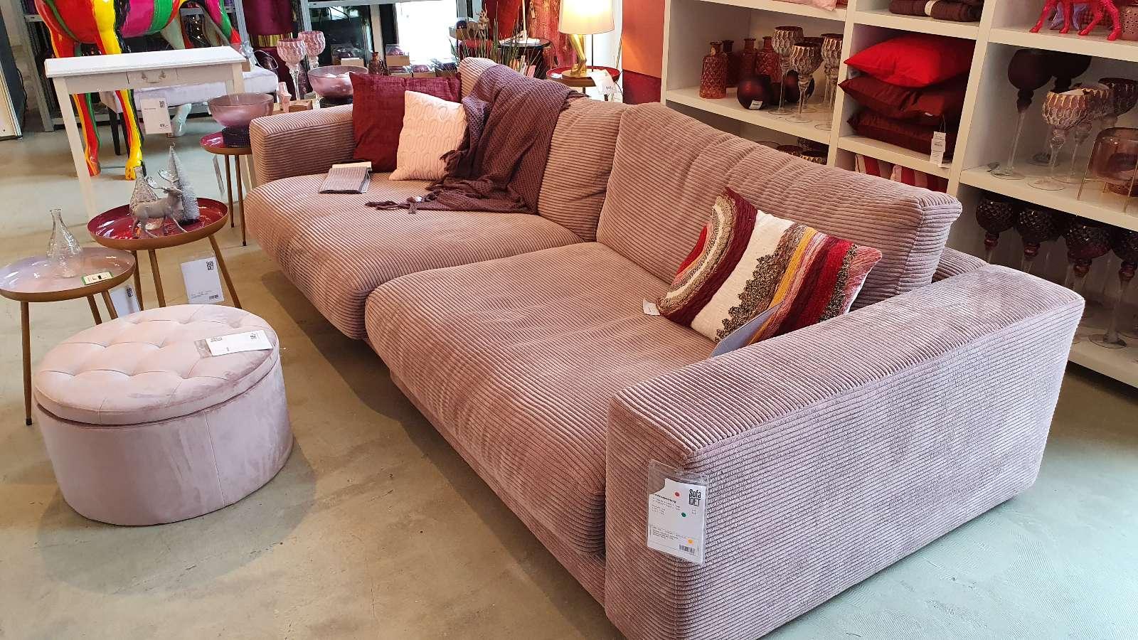 Sofa Loft – Cordsofa altrosa, 290cm x 127cm (ACHTUNG: NUR BESTELLUNG MÖGLICH!!) Lieferzeiten 12-14 Wochen