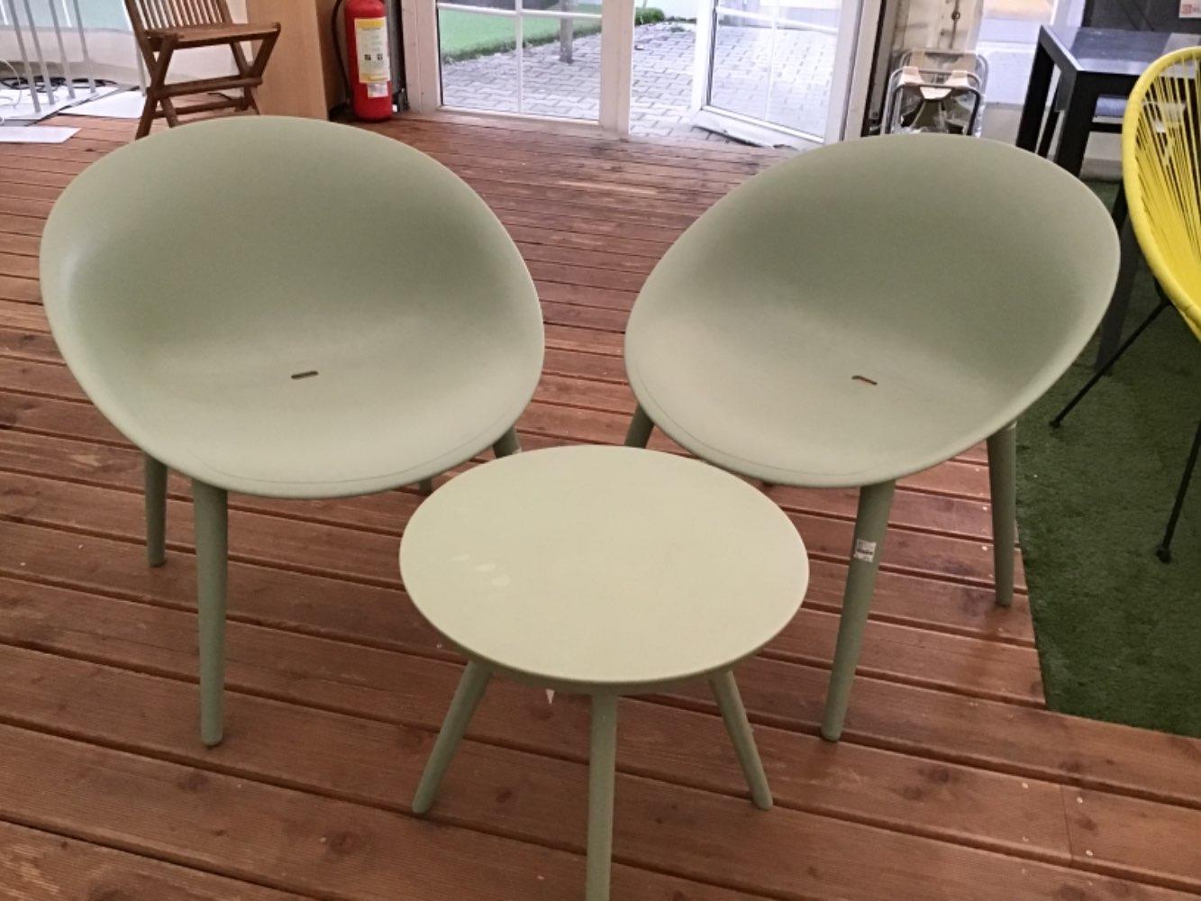 """Balkonset """"840686"""" Hellgrün 2 Stühle 1 Tisch XXXLutz Wassertrüdingen"""