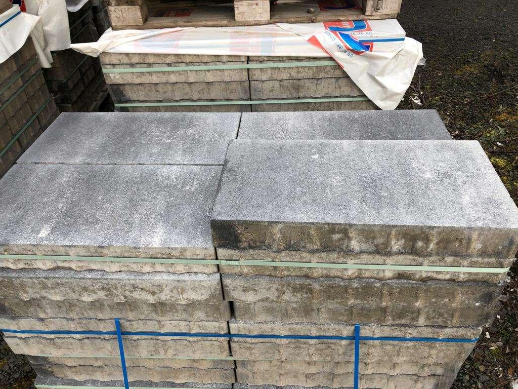 Exclusiv Pflaster 60x30x8 cm Kristall Anthrazit-Weiß (2.Wahl)
