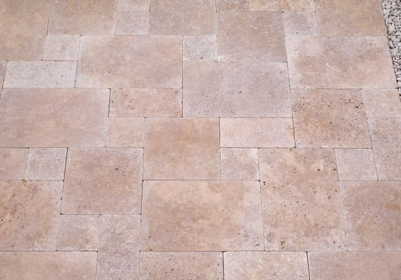 TRAVERTIN Terrassenplatten, 80x60x3cm, antik