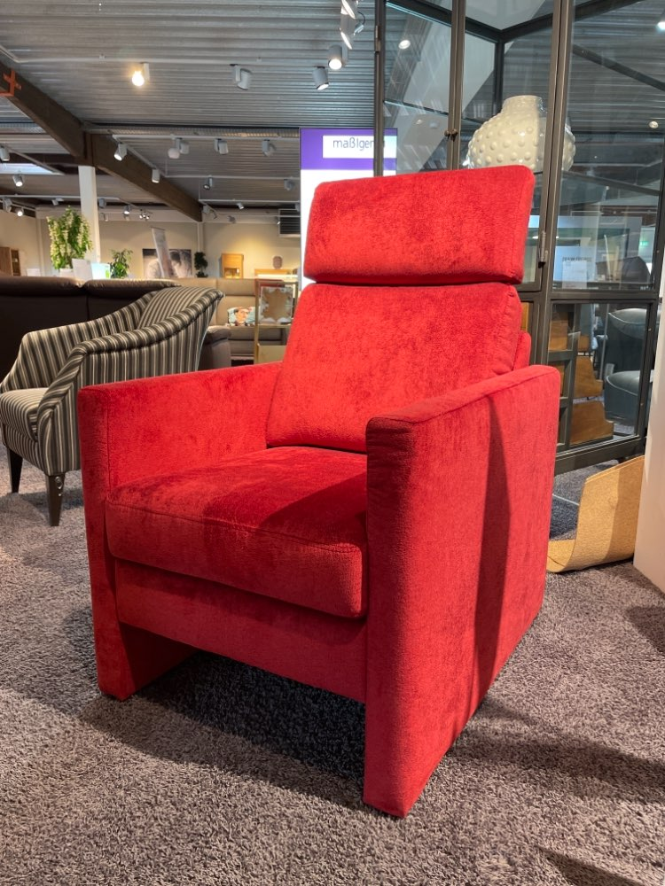 Sessel mit wechselbaren Sitzkissen Samt ROT