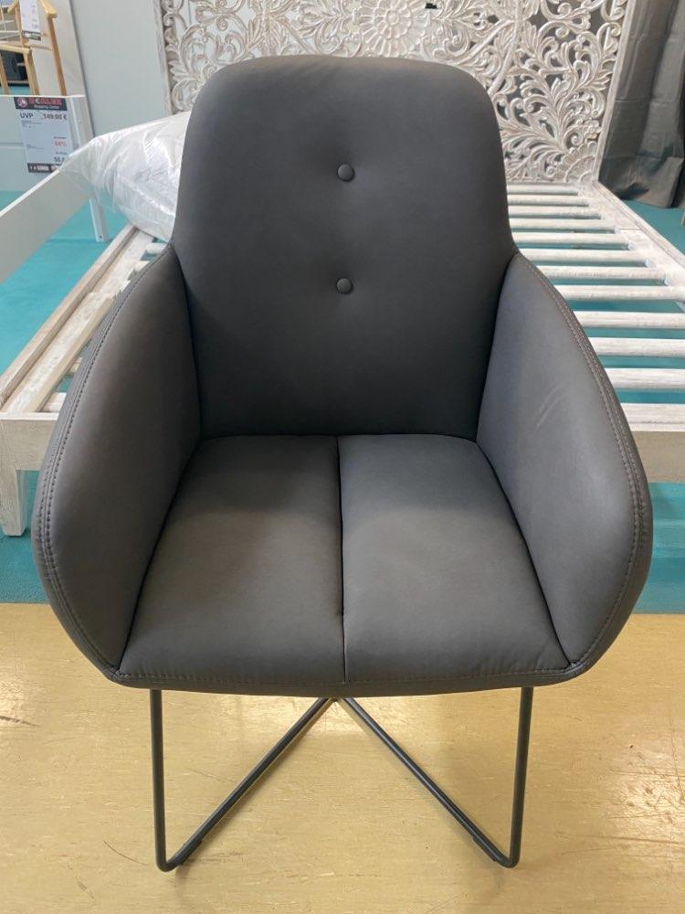 (MG) Kufenstuhl / Stuhl / Esszimmerstuhl grau statt 429€