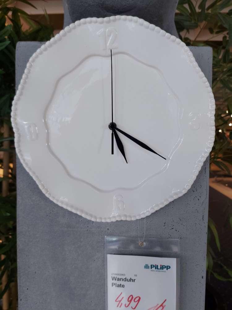 Wanduhr Plate