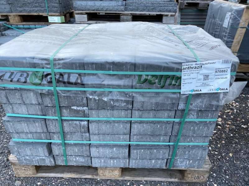 KLB Sparta Pflaster 21x14x8 cm anthrazit (2.Wahl)