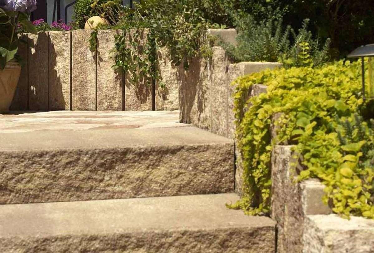 Via Leano Palisaden 15x14x90 cm Sandstein (Restposten)