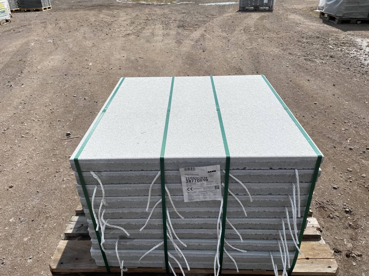 Polaris Platten 80x80x5 grau feingestrahlt (2.Wahl)