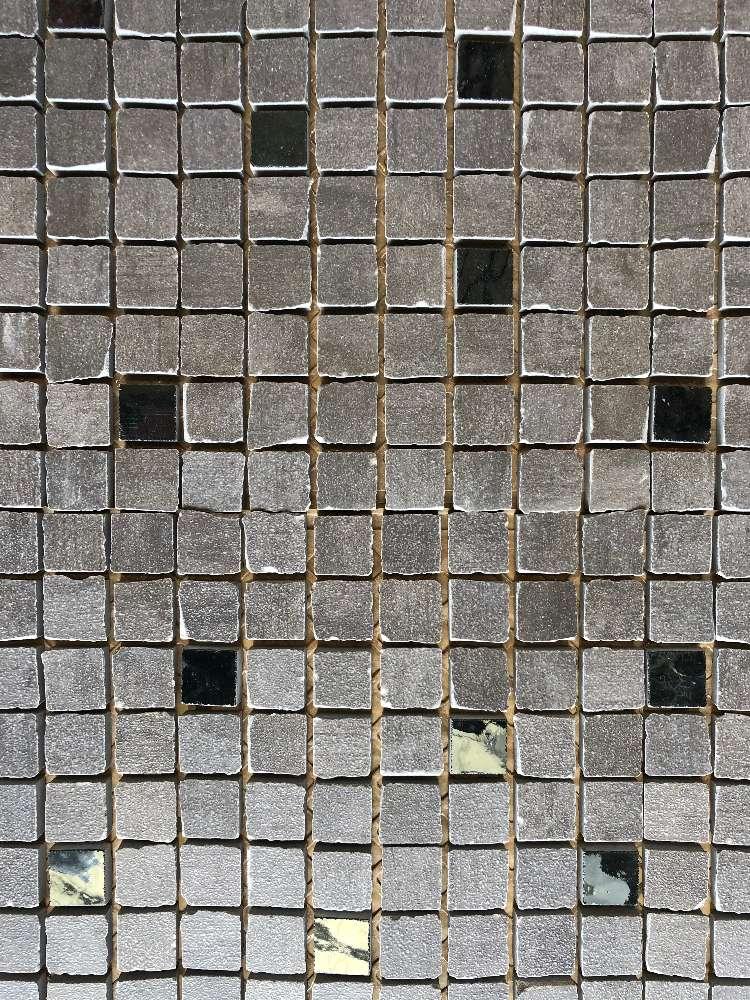 Mosaik Soho Graphit 2,5×2,5cm, Bruchmosaik (Matte 30x30cm)