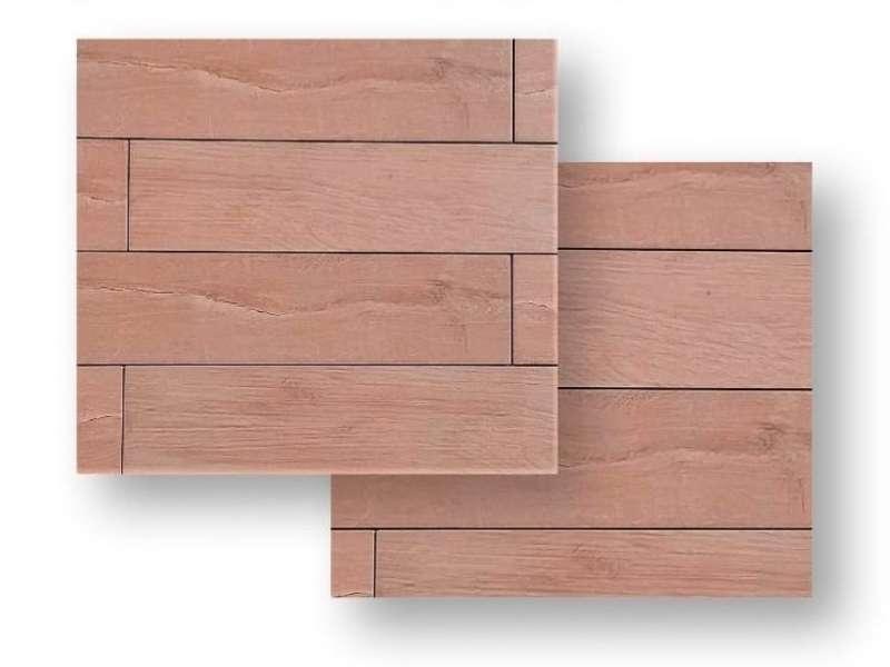 Bodenfliese Mein Holz beige Feinsteinzeug, 15×60 cm