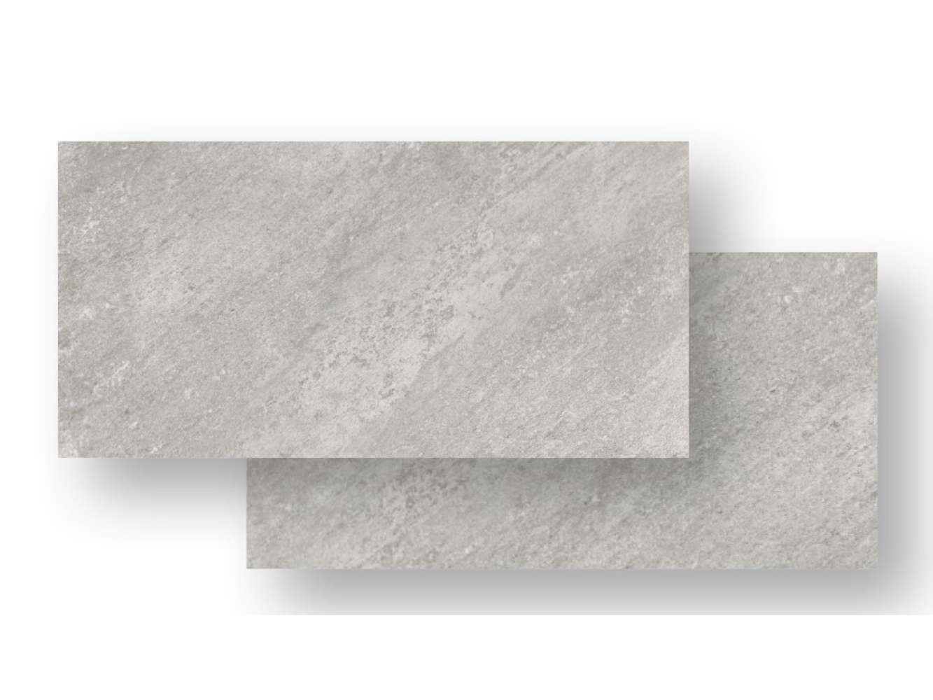 Bodenfliese Quarry Feinsteinzeug Grey rektifiziert, 80x40x1 cm