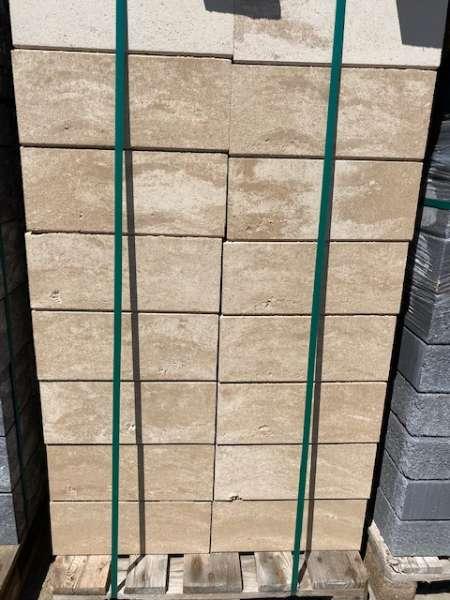 Vario-Line Mauerstein Creme Beige meliert glatt 40x20x16,7 cm cm (2.Wahl)