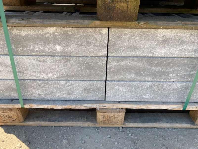 Trend-Line Long Mauerstein grau weiß meliert glatt 57x19x12 cm (2.Wahl)