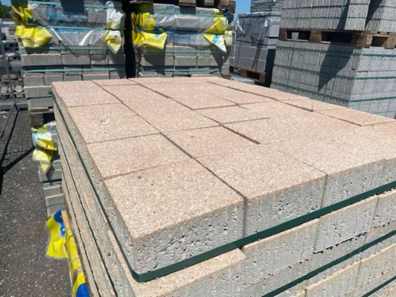 Planolith Pflaster 16x16x8 cm Sandstein gewaschen