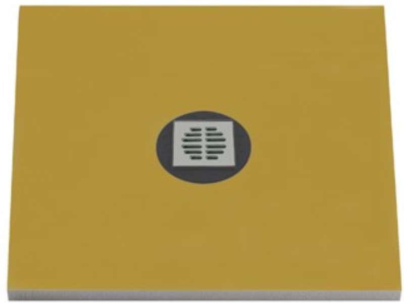 BED Duschelement, Ablauf waagerecht, zentriert, rollstuhlbelastbar, 1000x1000x50 cm