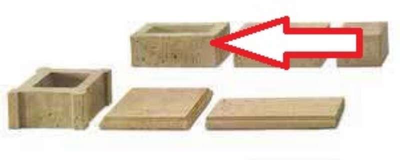 Travino-Walling Grundelement 40x20x15 cm sandstein