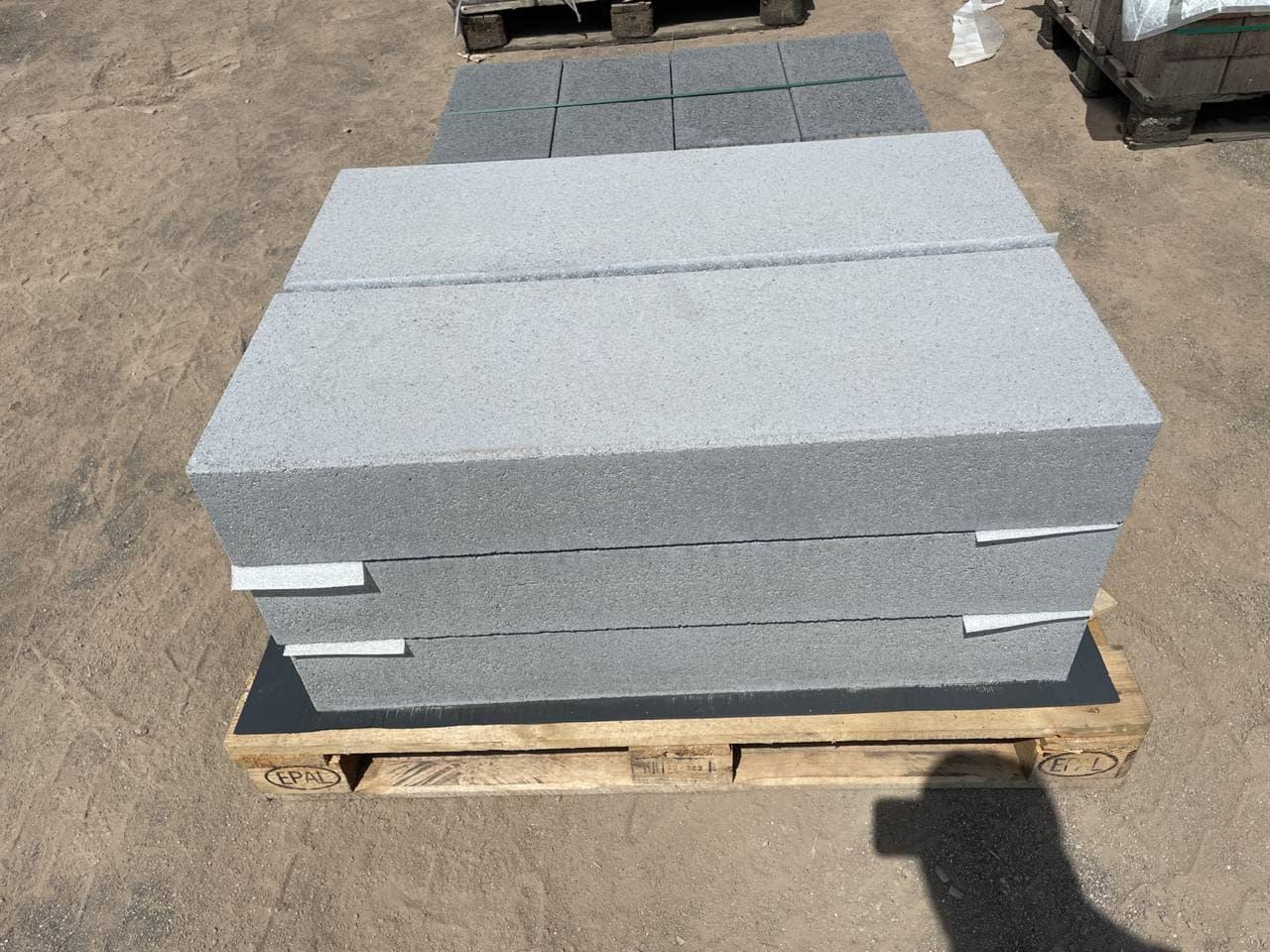 Vios -Stufen 100x35x15  cm grau feingestrahlt (2.Wahl)