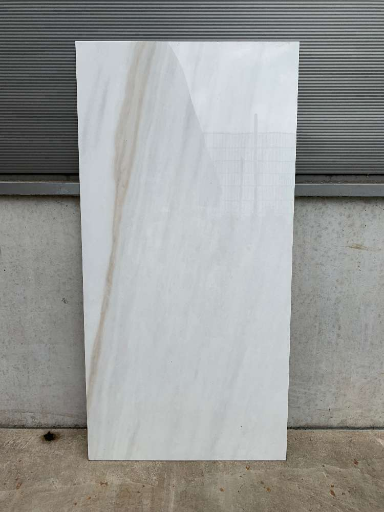 Fliese 60X120X0,8CM Weiß Poliert