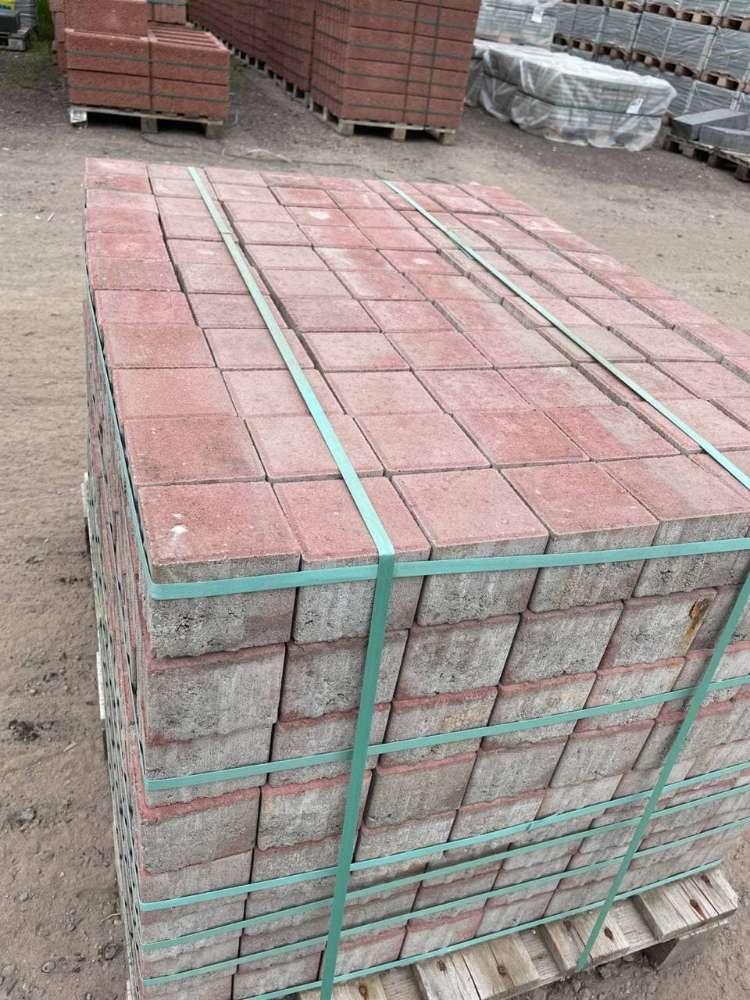 Eco-Line Quadratpflaster 10x10x8 cm rot (2.Wahl/Restposten)