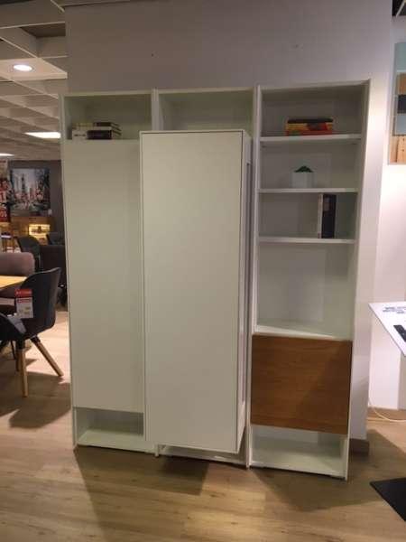 Garderoben – Wohnkombi in Lack reinweiß / Akzent Natureiche