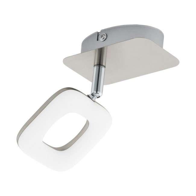 Aussteller LED Wandleuchte Litago 1 nickel matt