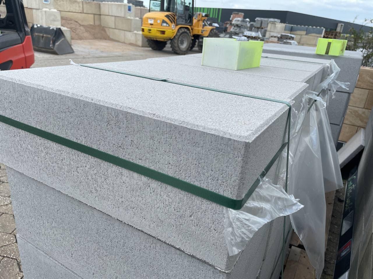 Vios Mauer Grundelement  45×22,5×16,5 cm  grau Rohling betonglatt ( 2.Wahl )