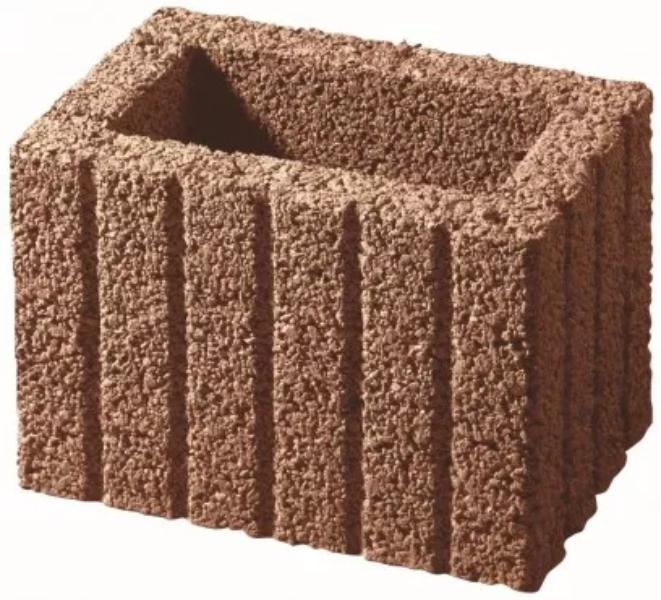 KANN Mini-Pflanzstein 30x20x20 cm braun gerillt (2.Wahl)