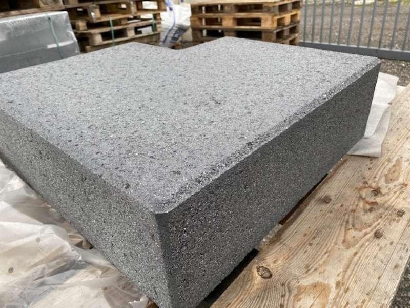 Vios -Stufen 50x50x35x15 cm 90°Ecke anthrazit feingestrahlt ( 2.Wahl)