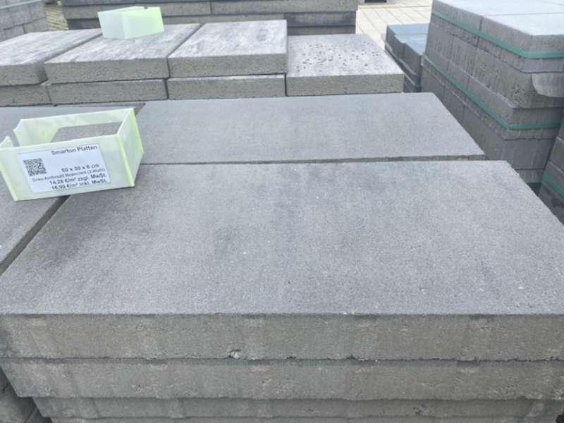 Smarton Platten grau-anthrazit nuanciert 60x30x6 cm (2.Wahl)