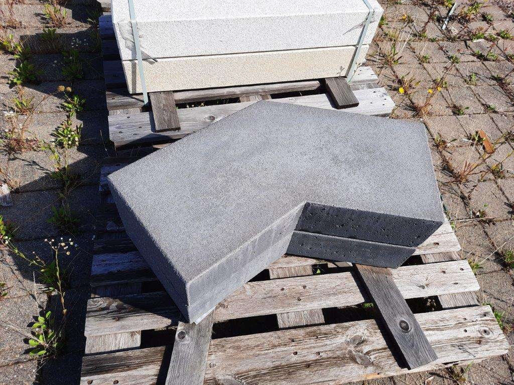 EHL Flair Blockstufe 15/35 135° Ecke anthrazit kugelgestrahlt 2. Wahl