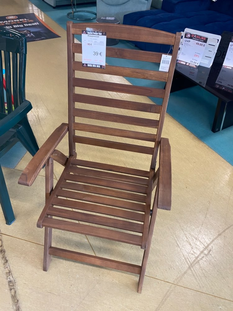 (MG) Klappsessel / Gartenstuhl / Stuhl statt 99€