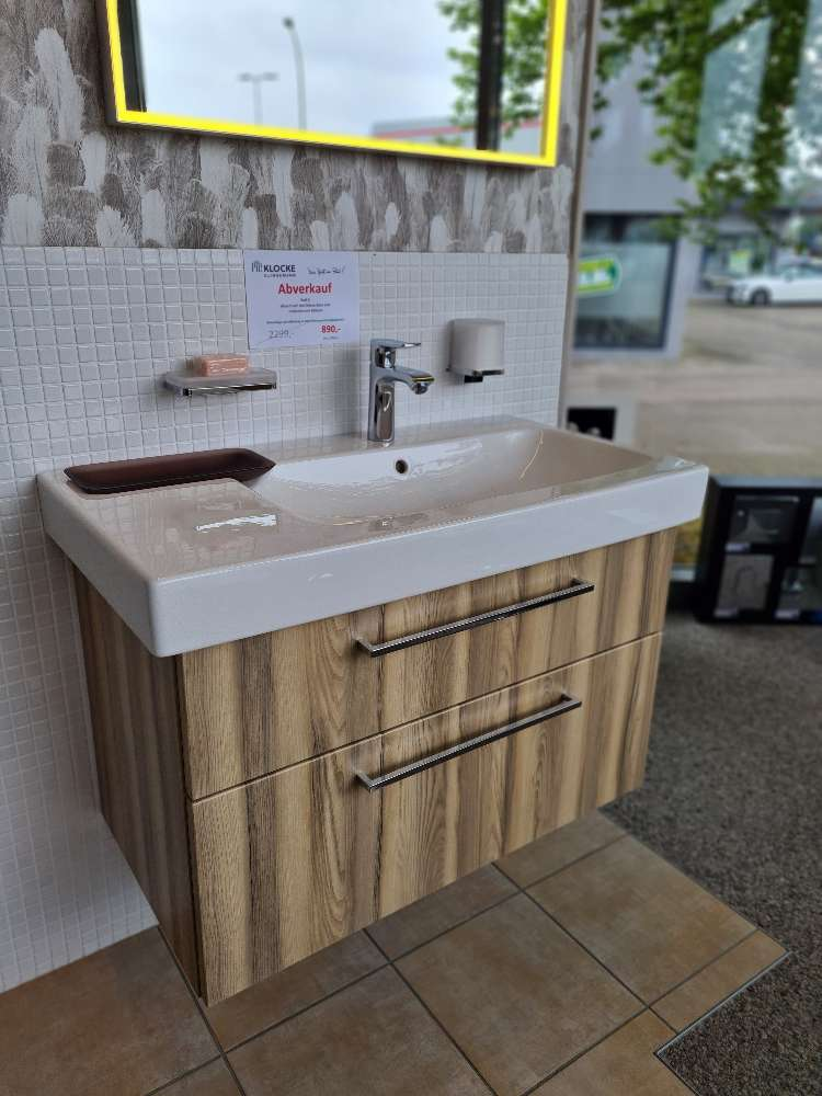 Waschtisch mit Unterschrank & Wand-WC mit WC-Sitz