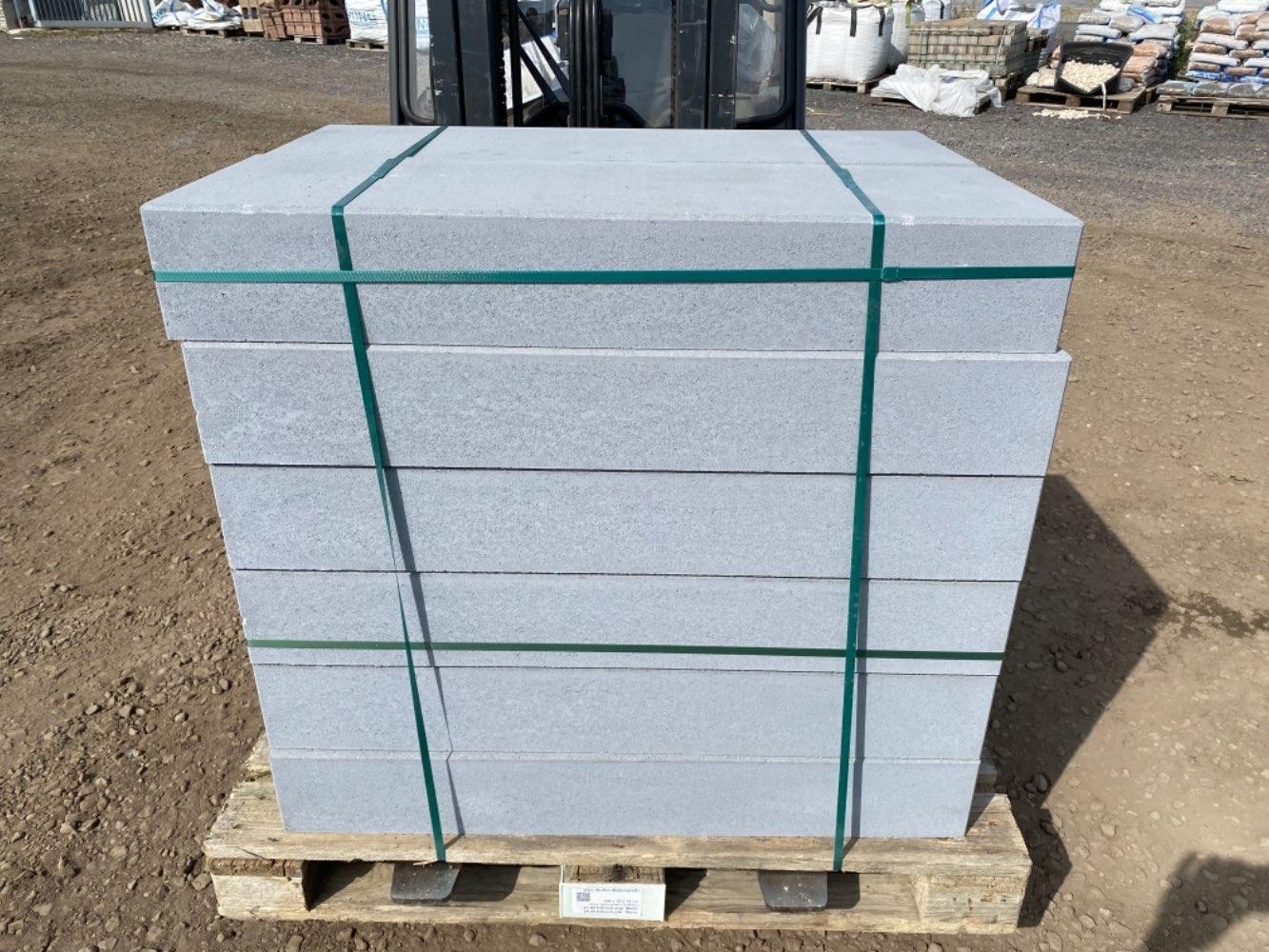 Vios Stufen 100x35x15 cm grau betonglatt / Rohling (2.Wahl)