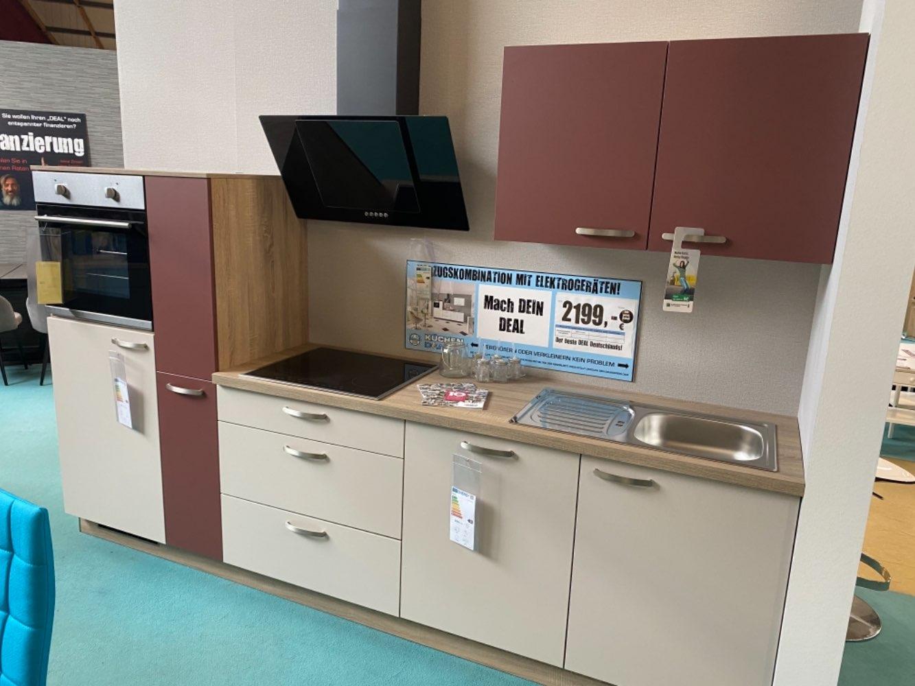 Einbauküche Aquamarin / Küche mit E-Geräten Top Deal Koje 30