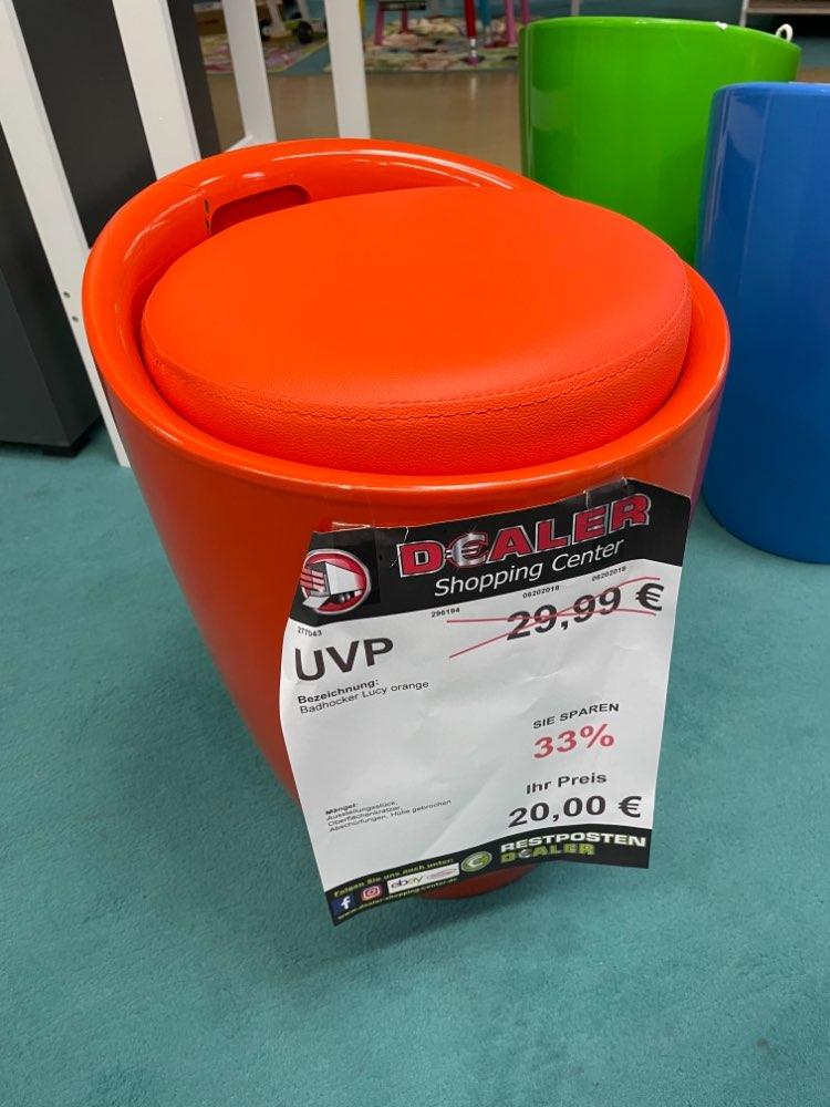Badhocker orange statt 29,99€