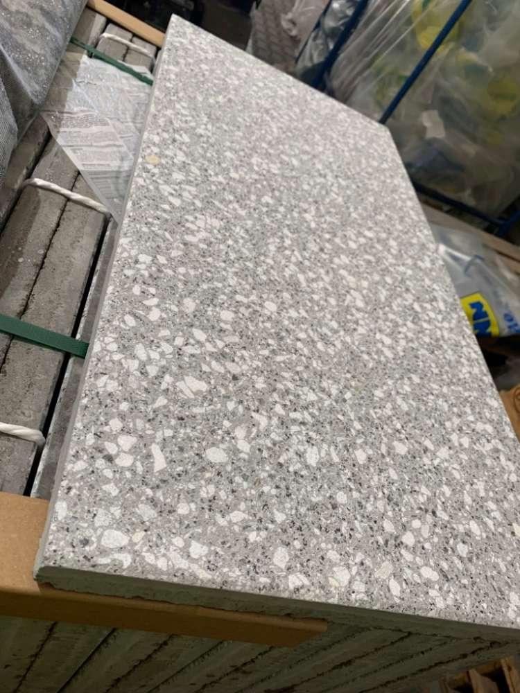 Casa 80x40x3,6 cm grau granit geschliffen & gestrahlt (Sonderposten)